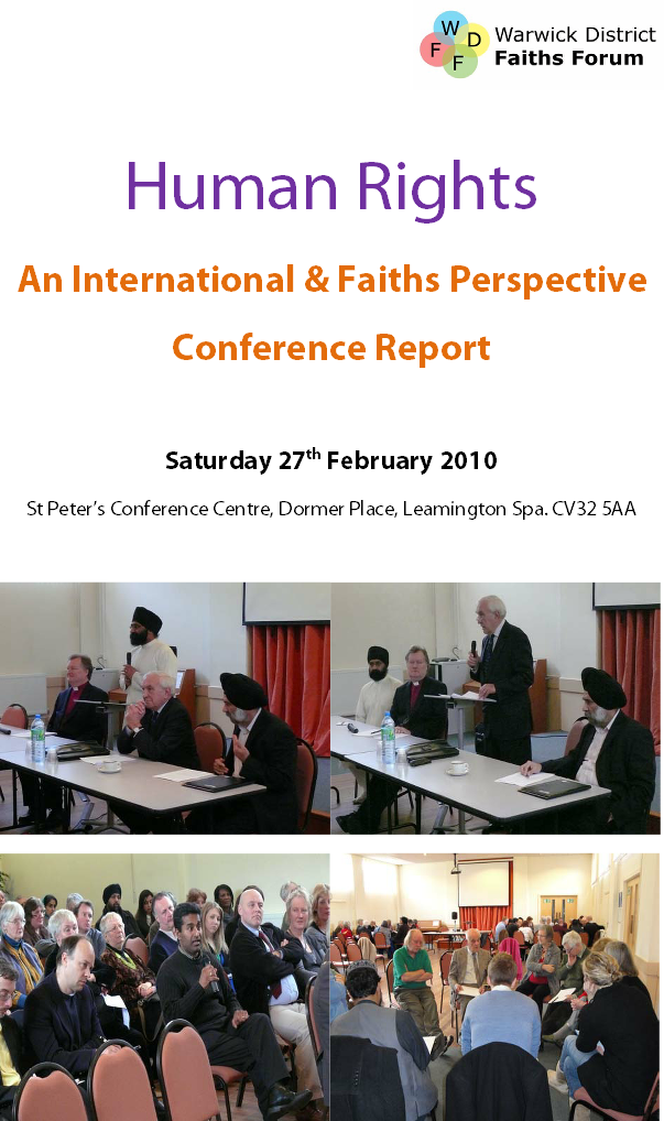 An International & Faiths Perspective